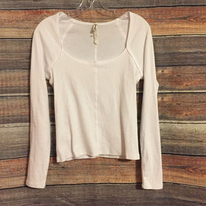 Intimately free people white ribbed top NWOT